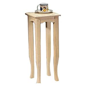 End Table Tall Wood Living Room Sleek And