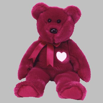 TY Beanie Buddy - VALENTINA the Red Bear
