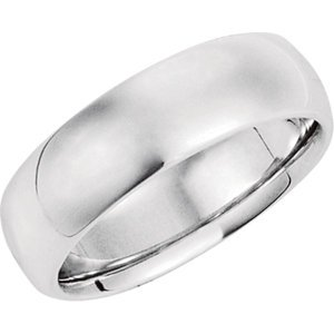 Platinum Comfort Fit Wedding Band :7MM: Size 9