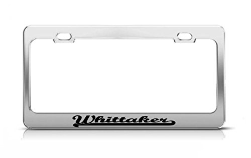 whittaker-last-name-ancestry-metal-chrome-tag-holder-license-plate-cover-frame