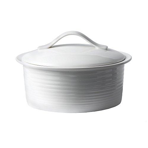 Gordon Ramsay by Royal Doulton White Porcelain 2-Quart Covered Casserole