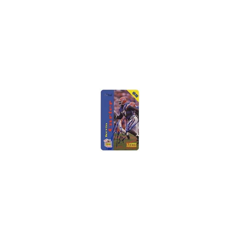 Collectible Phone Card $2. Auto Phonex Signature Rookies Kevin Carter (Card #2 of 40)