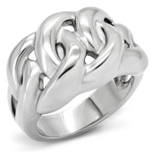 RIGHT HAND RING - High Polished Stainless Steel Dome Knot Ring