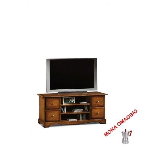 CLASSICO porta TV 3 cassetti legno 3 cassetti a giorno sala soggiorno camera 536 117x49x53