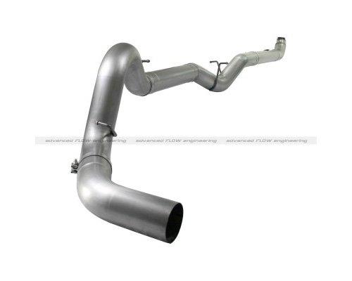 Atlas 5Inch Down-Pipe Back Aluminized Steel Race Exhaust System Chevrolet Silverado 2500 Lmm Duramax V8 6.6L 07.5-10