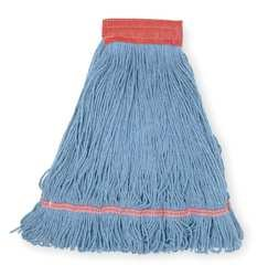 Tough Guy 1TYL8 Wet Mop, Large, Blue, Looped End