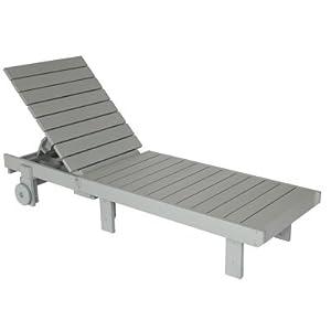 Grey polywood adirondack chaise lounge for Amazon chaise longue