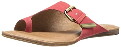 Corso Como Women's Slim Flip Flop,Scarlet Tumbled Nubuck,6 M US