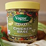 Vogue Cuisine Vegetarian Chicken Soup & Seasoning Base 4oz - Low Sodium, Gluten Free, All Natural Ingredients