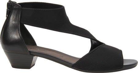 Gabor Women's 45-853 Vamp Strap Sandal,Black Nappa Leather,UK 4 M