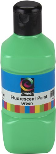 Omega Fluorescent Paint, 250ml, Green - 1