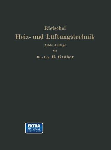 H. Rietschels Leitfaden der Heiz- und Lüftungstechnik  [Rietschel, Hermann - B: urgers, I. - Groeber, Heinrich] (Tapa Blanda)