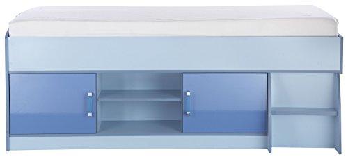 Niedriger-Hochbett-mit-Speicher-in-blau