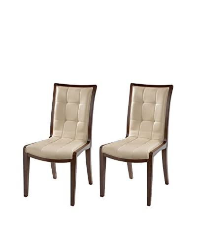 International Design Executor Set of 2 Dining Chairs, Cream