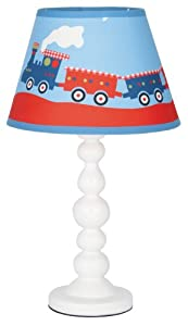 aimbry childrens train table lamp for boys bedroom
