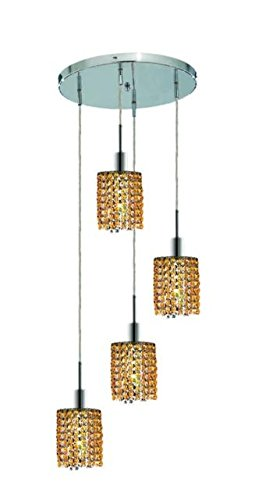 "Wiatt 4-Light 9.5""D Crystal Ceiling Pendant 1092D-R-R-Lt-Rc"