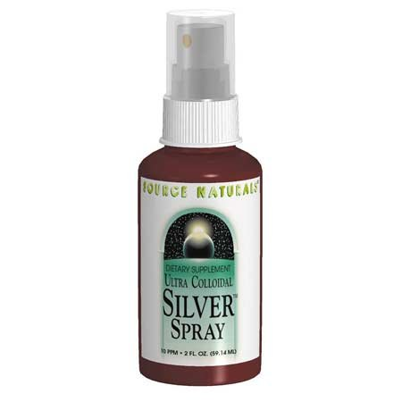 Source Naturals Ultra Colloidal Silver Throat Spray, 10 ppm, 2 Fluid Ounce