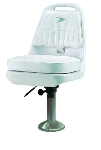"Wise 8WD013-7-710 Standard Pilot Chair with 12-18"" Adjustable Height Pedestal, White"
