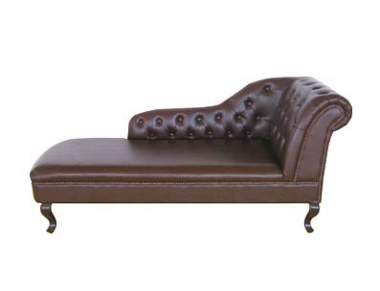 Premier Housewares Chaise Lounge Right Armrest Antique Leather, 80 x 175 x 60 cm