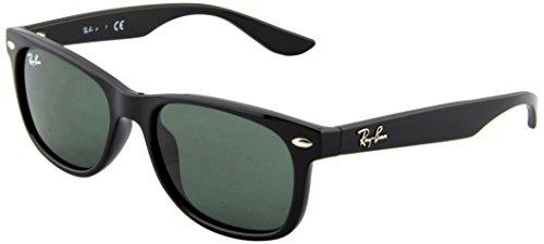 ray-ban-unisex-sonnenbrille-new-wayfarer-junior-gr-small-herstellergrosse-47-schwarz-gestell-schwarz