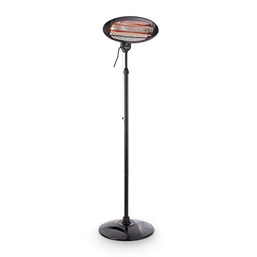 DURAMAXX Shiny Hot Roddy stufa radiatore infrarossi (lampada al quarzo, cavalletto telescopico, perfetta per terrazze, interni, fasciatoi, potenza 1300W)