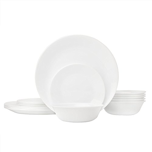 Corelle Livingware Piece Dinnerware Set, Winter Frost White , Service for 8 (24-Piece Set) (Set Service compare prices)