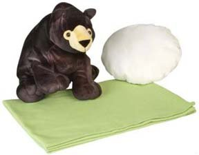 Amazon.com : Black Bear Pillow Buddy Plush Stuffed Animal Baby Blanket and Pillow Set : Toddler ...