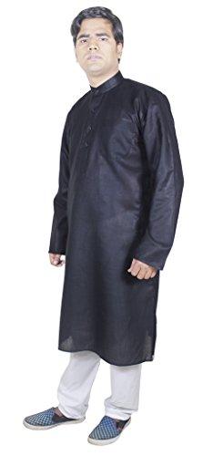 Mens Fashion Dress Suits Kurta Pajama For Wedding Indian Dress Long Black Size M
