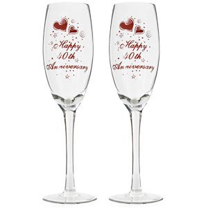 Th Wedding Anniversary Champagne Glasses