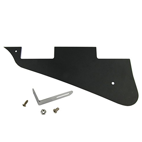 ikn-3-ply-electric-guitar-pickguard-with-screws-and-nut-for-epiphone-les-paul-standardblack-1-set