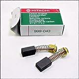 Hitachi 999-043 Power Tool Motor Brush Set Genuine Original Equipment Manufacturer (OEM) part for Hitachi & Wc Wood