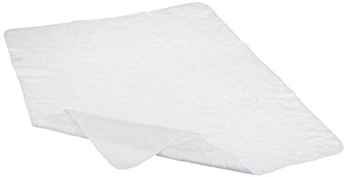 American Baby Company Waterproof Embossed Quilt-Like Multi-Use Flat Protective Mattress Pad cover, White