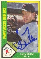 Larry Shikles Pawtucket Red Sox - Red Sox Affiliate 1990 CMC Autographed Hand Signed... by Hall of Fame Memorabilia
