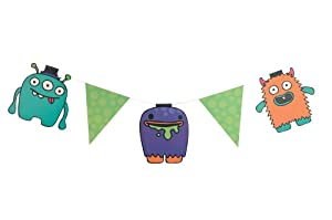 Ginger Ray Monster Party Decoration Bunting Banner - Monster Madness from Ginger Ray