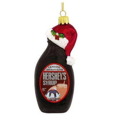 Hershey's Syrup Bottle, Hand-crafted Glass Ornament
