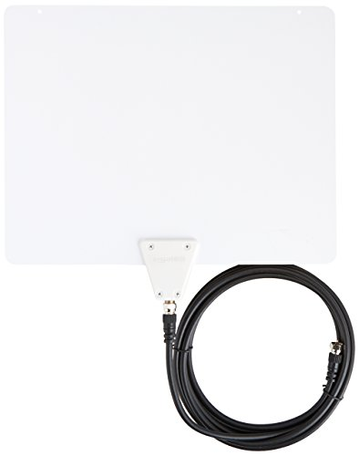 Discover Bargain AmazonBasics Ultra Thin Indoor HDTV Antenna - 35 Mile (Latest Version)