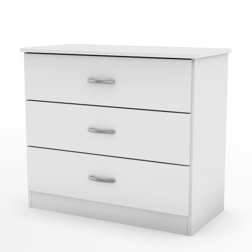 picture South Shore Libra Collection 3-Drawer Chest, White