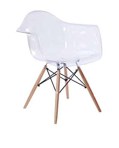 Lo+deModa Set Silla 2 Unidades Wooden Arms Clear Edition