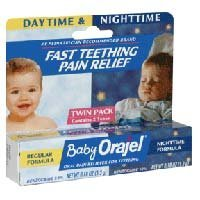 Baby Orajel Daytime & Nighttime Twinpack Fast Teething Pain Relief