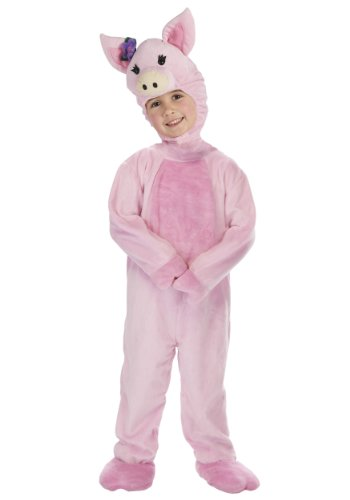 [Little Girls' Toddler Pig Costume Small (1T - 2T)] (Piglet Costumes For Baby)