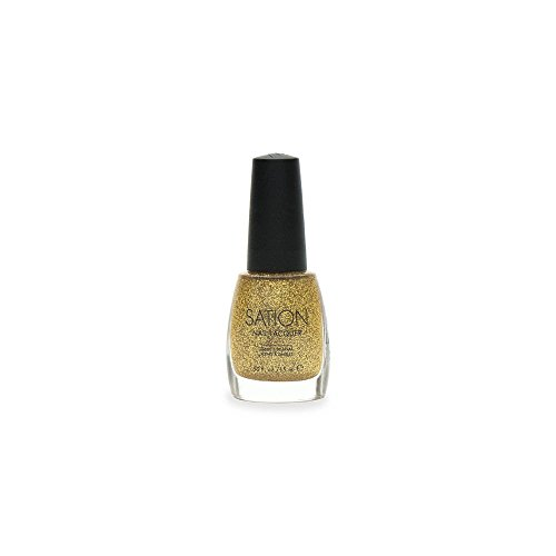 Sation Nail Lacquer Gold Glitter 1087 (Sation Glitter Nail Polish compare prices)