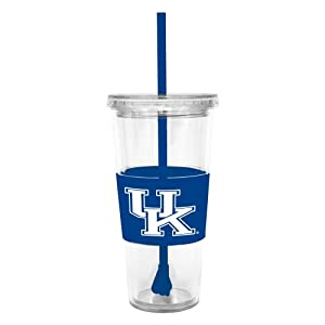 Buy NCAA Kentucky Wildcats 22 Ounce Insulated Tumbler with Rubber Sleeve and Stir Straw by Boelter Brands