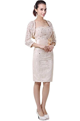 DLFashion 3/4 Sleeve Sheath Lace Mother Of The Bride Dress