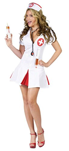 Funworld Womens Sexy Medical Nurse Say Ahhh Caregiver Hospital Fancy Costume
