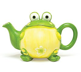 Adorable Toby the Toad/Frog Teapot For Kitchen Decor (Novelty Teapots compare prices)