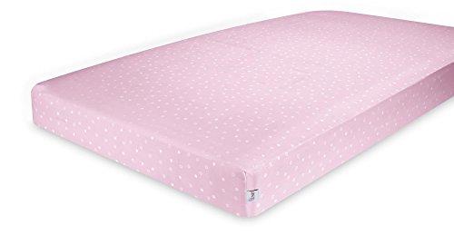 GUND Babygund Twinkle Twinkle Sateen Crib Sheet, Twinkle Twinkle - Popsicle Pink, 28'' By 52''