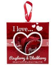 I Love Raspberry & Blackberry Mini Box of Love Bath Set