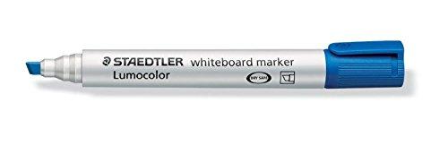 STAEDTLER Lot de 3 Lumocolors marqueur tableau blanc 351B, bleu