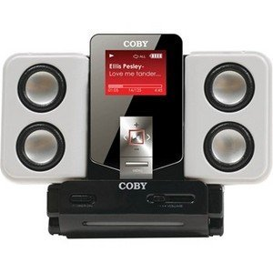 Coby Electronics MP-C68347 1GB MP3 Player - FM Tuner, FM Recorder, Voice Recorder - 1GB Flash Memory - LCD