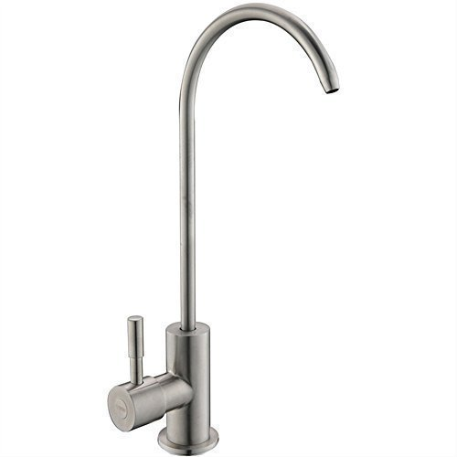 Ufaucet Modern Best Stainless Steel Brushed Nickel Kitchen Bar Sink Drinking Water Purifier Faucet, Commercial Water Filtration Faucet (Kitchen Filter Water Faucet compare prices)